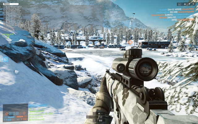 A winter map from Battlefield 4