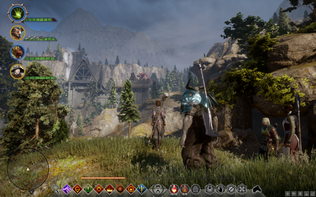Image from Dragon Age: Inquisition showing a villa in the background
